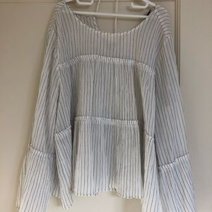Madewell tunic top wide arms size L